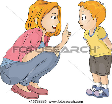 Clipart of Lecturing Mom k15738335.