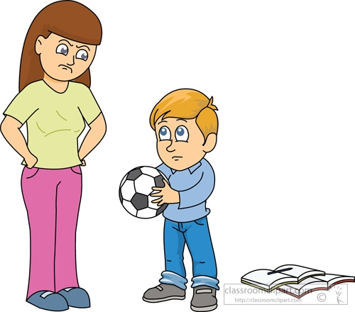 Boy And Mother Clipart.