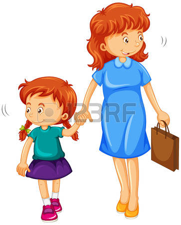 25,807 Mom Daughter Cliparts, Stock Vector And Royalty Free Mom.