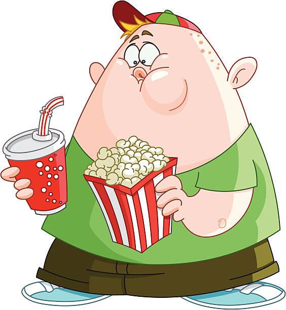 clipart of boy eating popcorn #4