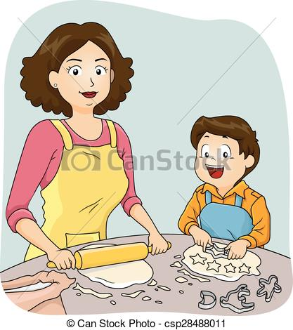 Mom And Boy Clipart.