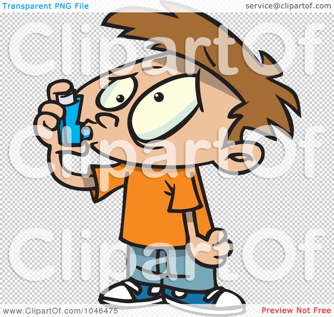 clipart of boy with inhaler #7