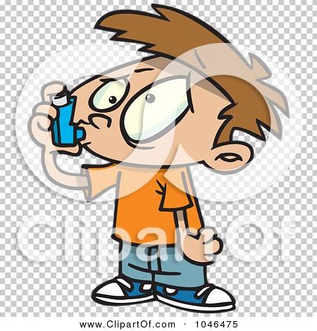 clipart of boy with inhaler #6