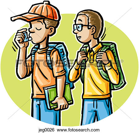 clipart of boy with inhaler #14