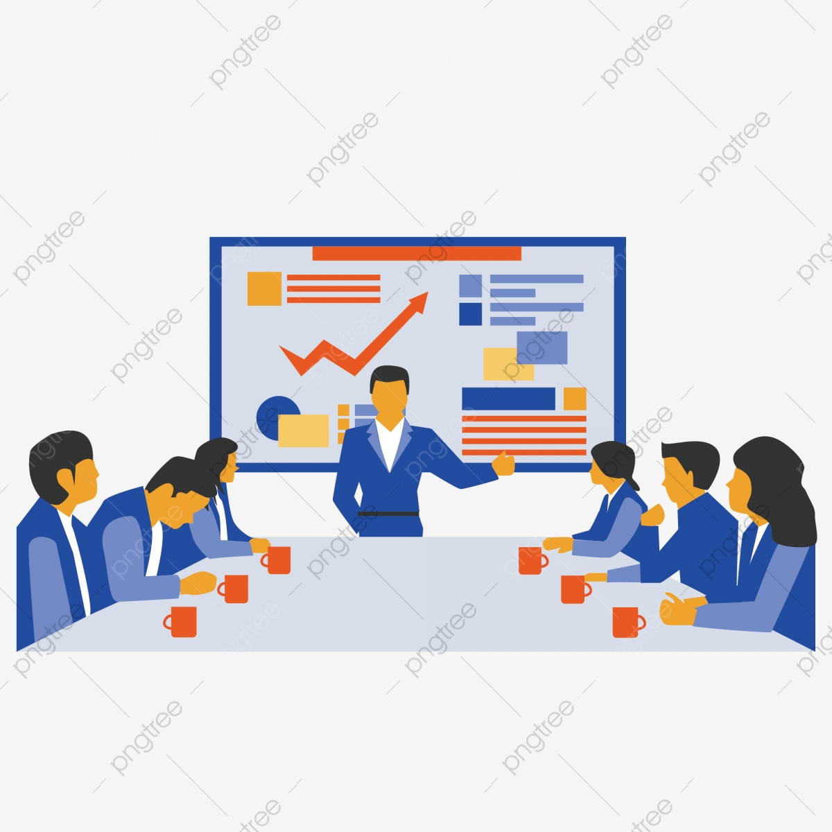 Business Meeting, Business Clipart, Business, Character PNG.
