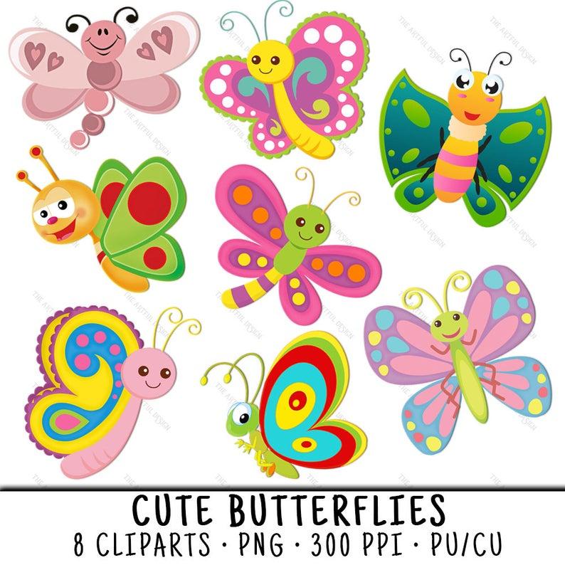 Butterfly Clip Art, Butterfly Clipart, Butterflies Clip Art, Butterflies  Clipart, Cute Butterfly PNG, PNG Cute Butterfly, Cute Butterflies.