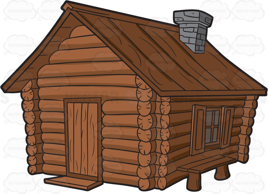 Log Cabin Cartoon.