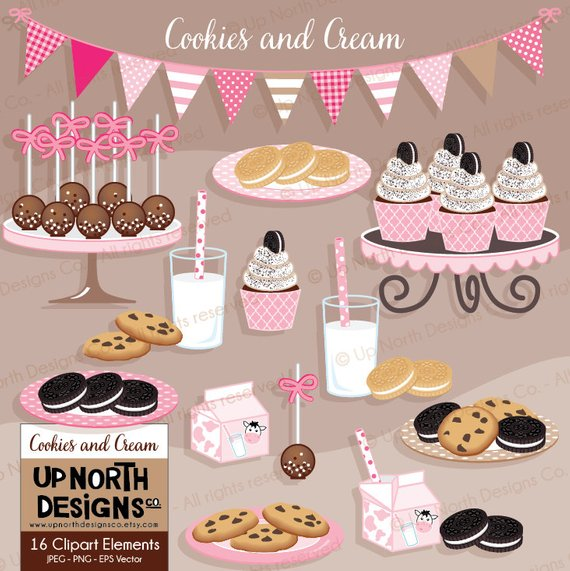 Cookies And Cream Clipart Chocolate Chip Cookie Clipart Cookies N.