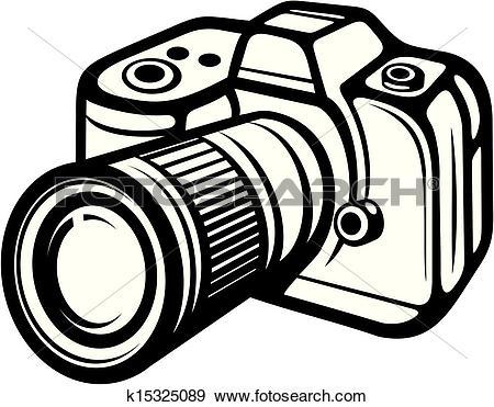 Clip Art of Digital Camera k15097819.