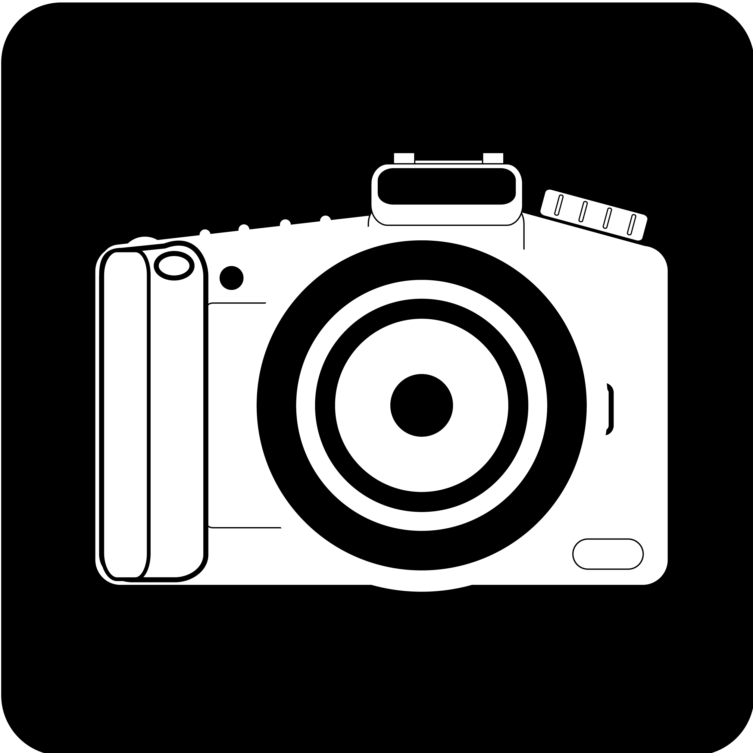 Vintage Camera Clipart Black And White.