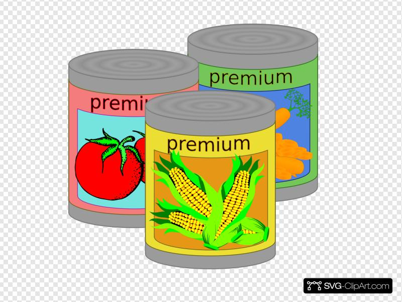 Canned Goods Clip art, Icon and SVG.