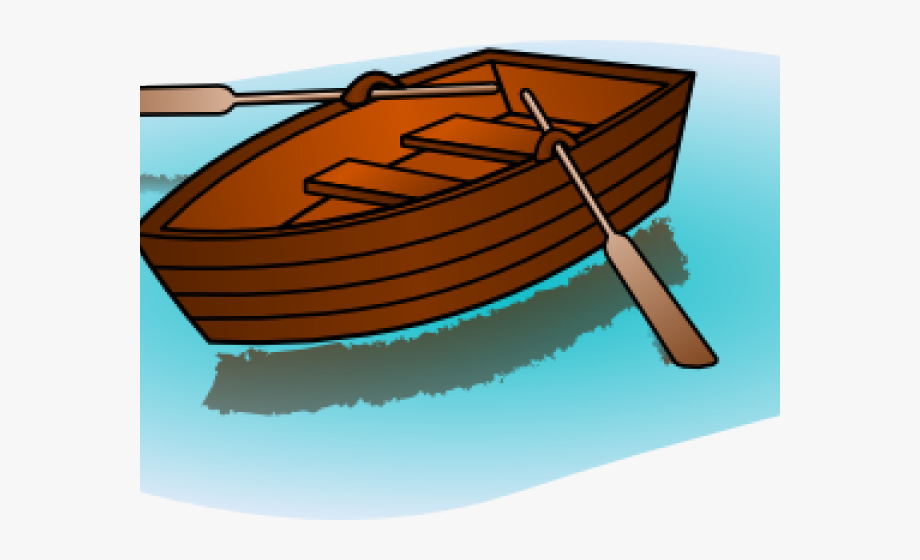 Canoe Paddle Clipart Yellow Boat.