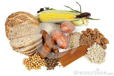 Food Sources Of Complex Carbohydrates Royalty Free Stock Photos.