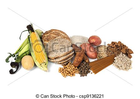 Carbohydrates Sources Clip Art.