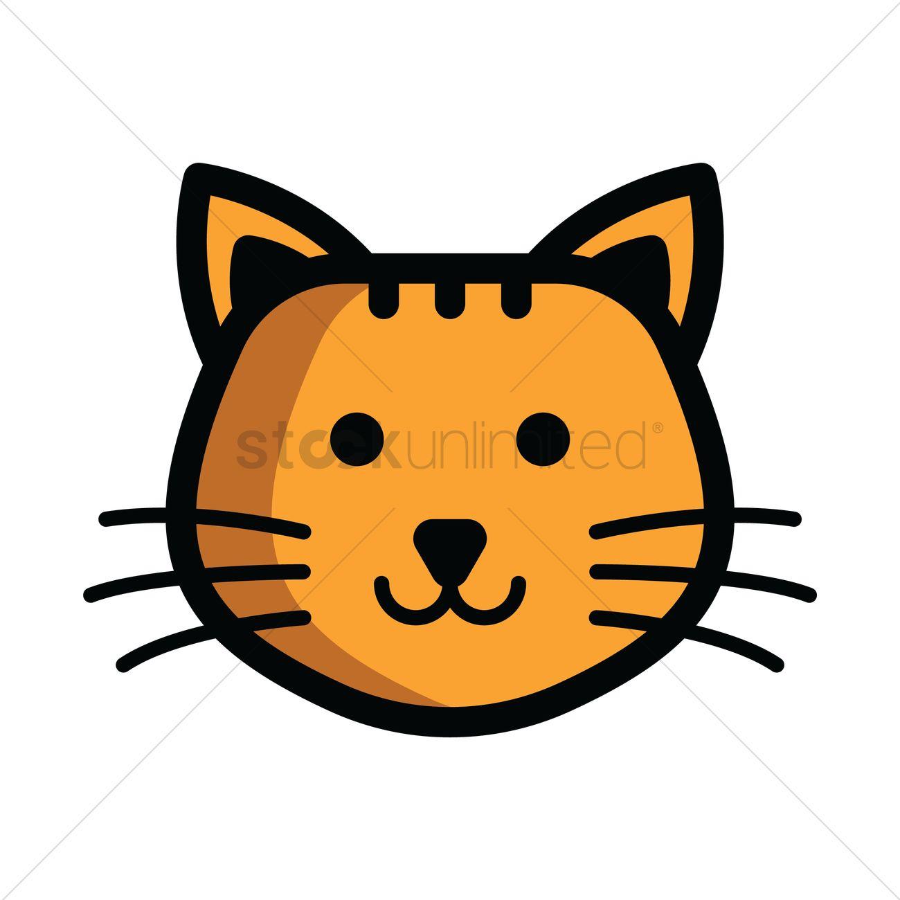 Cat head Vector Image.