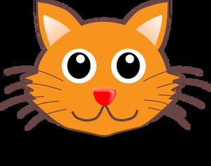 6994 cartoon cat face clip art.