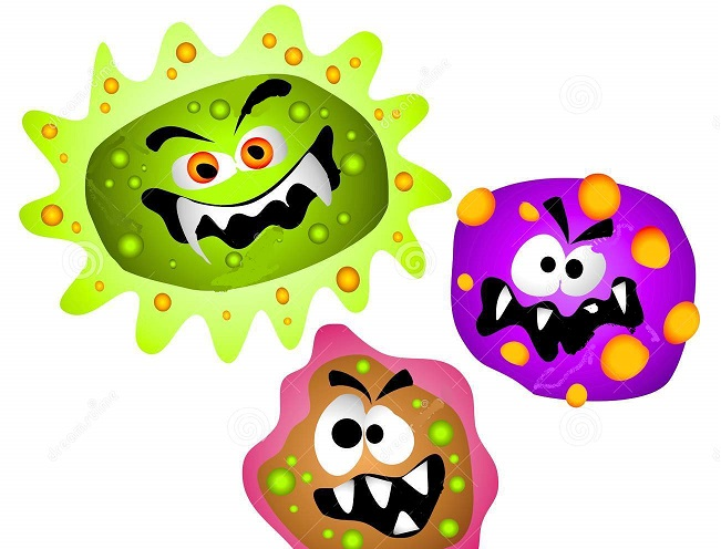 Cancer cells clipart.