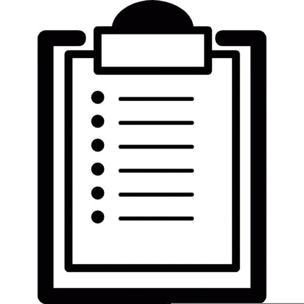 Checklist Free Clipart.