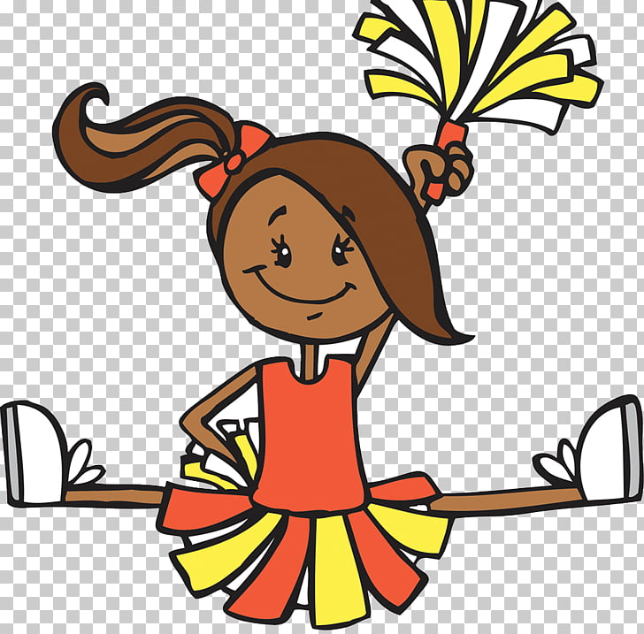 Cartoon Cheerleader Illustration, Cartoon cheerleaders PNG.