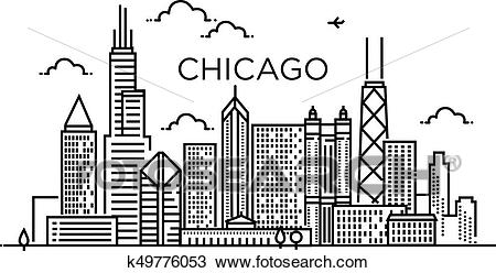Chicago Skyline Line Drawing at PaintingValley.com.