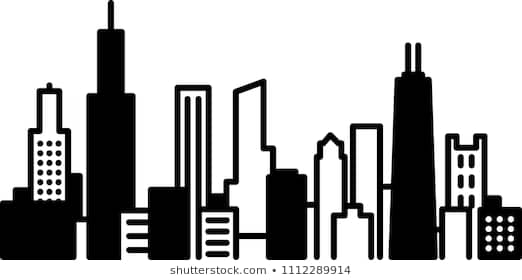 Huge Collection of 'Chicago skyline silhouette clip art'. Download.