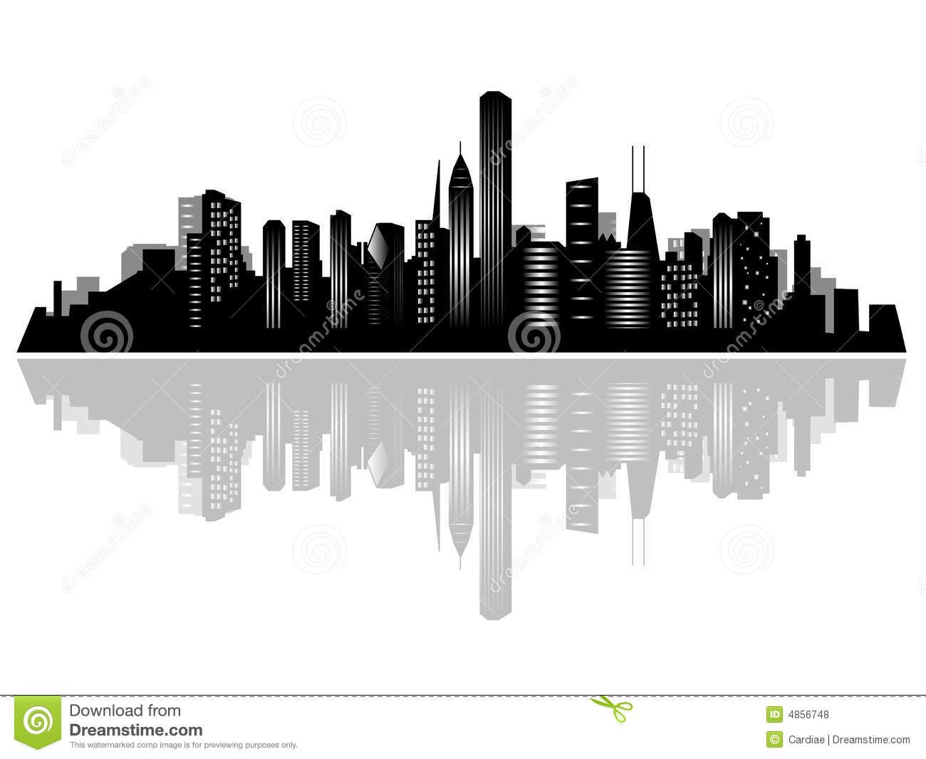Chicago Skyline Vector Free at GetDrawings.com.