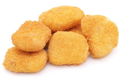 One clipart chicken nugget.
