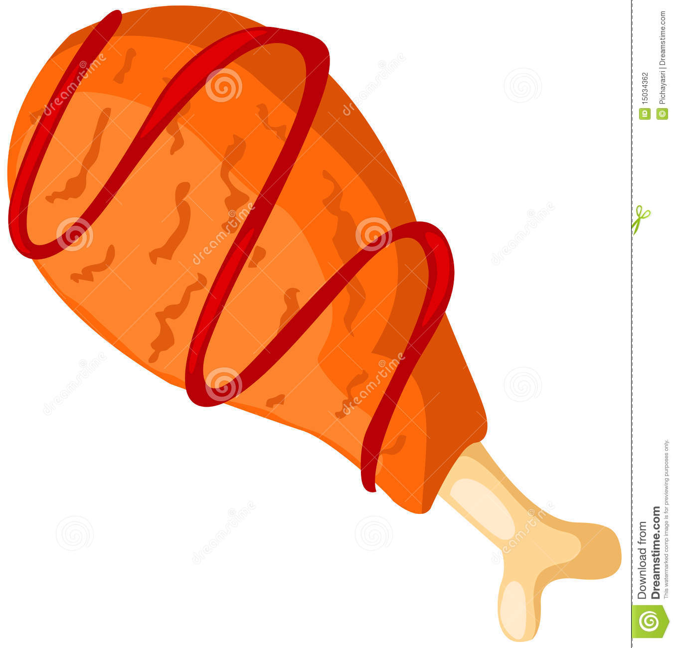 clipart of chicken wings #10