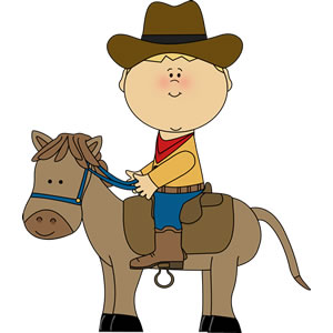 clipart of child and horse #20