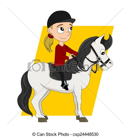 clipart of child and horse #12