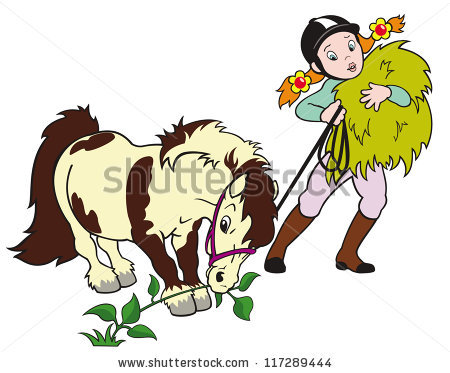 clipart of child and horse #6
