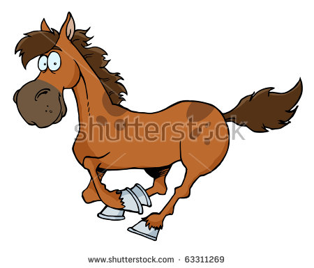 clipart of child and horse #4