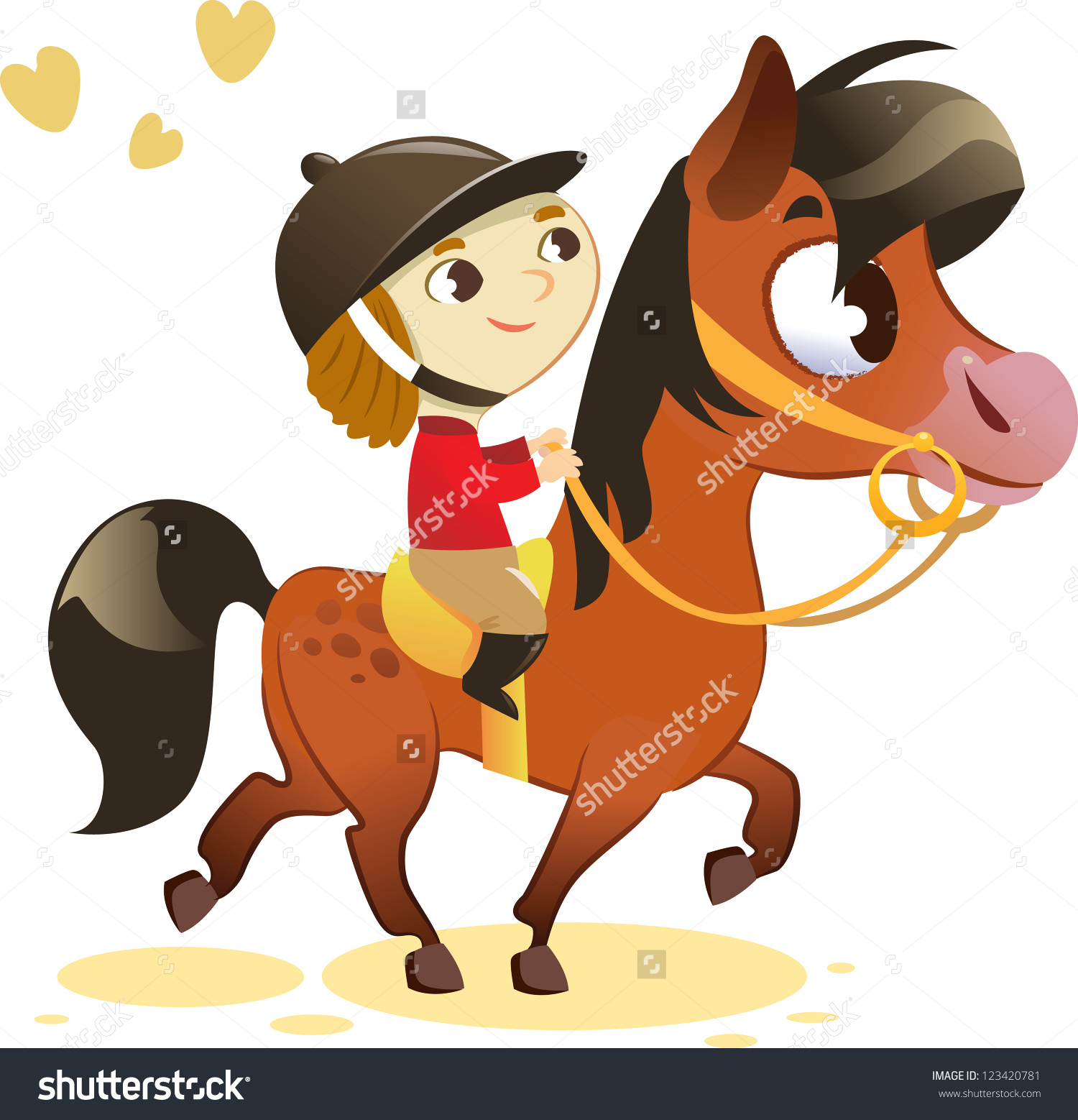 clipart of child and horse #17