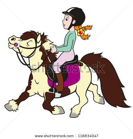 Showing post & media for Cartoon girl riding horse clip art.