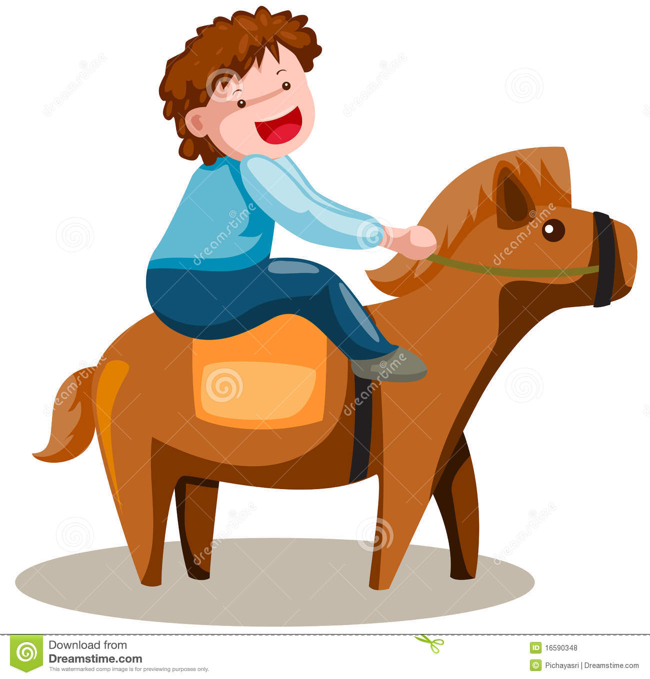 clipart of child and horse #14