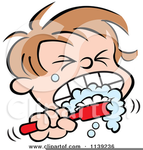 Free Clipart Of Children Brushing Their Teeth.