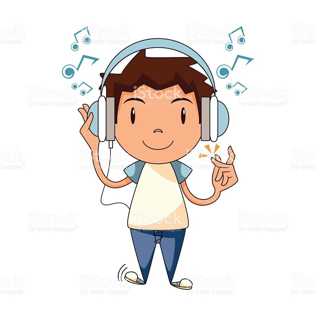 Headphone clipart child music.