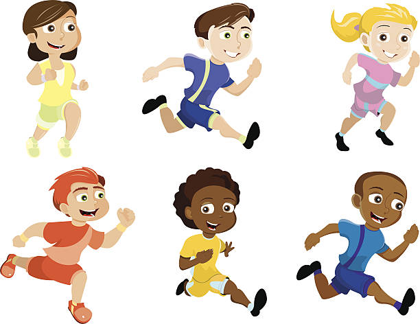 A Child Running Clipart.