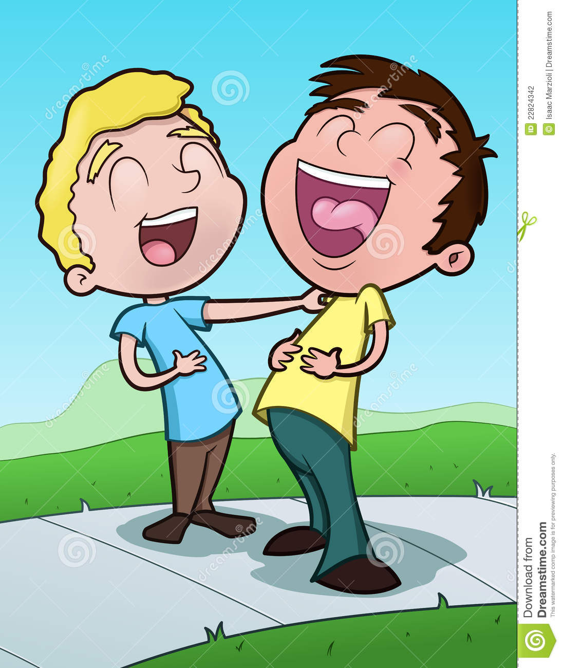 Kids Laughing In Class Clipart.