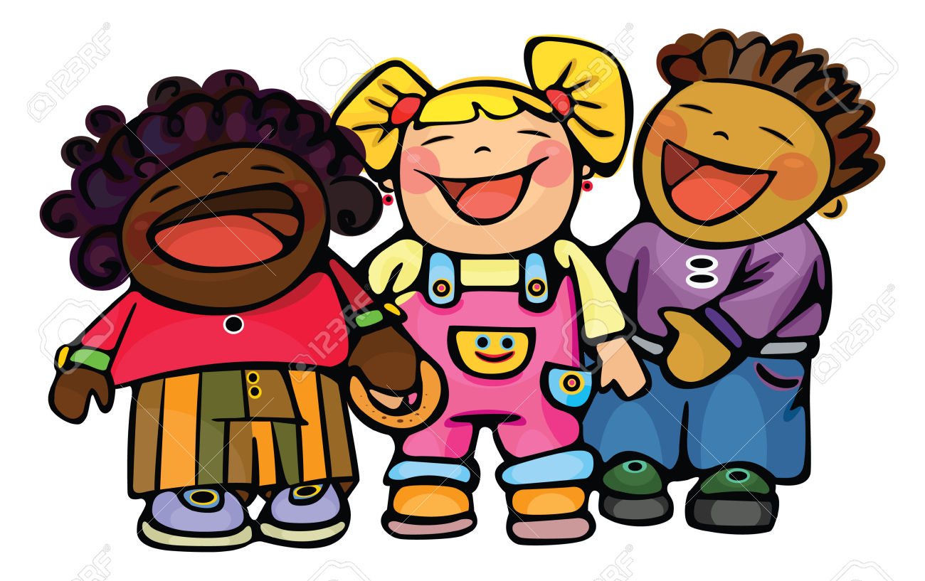 Children Laughing Clipart.