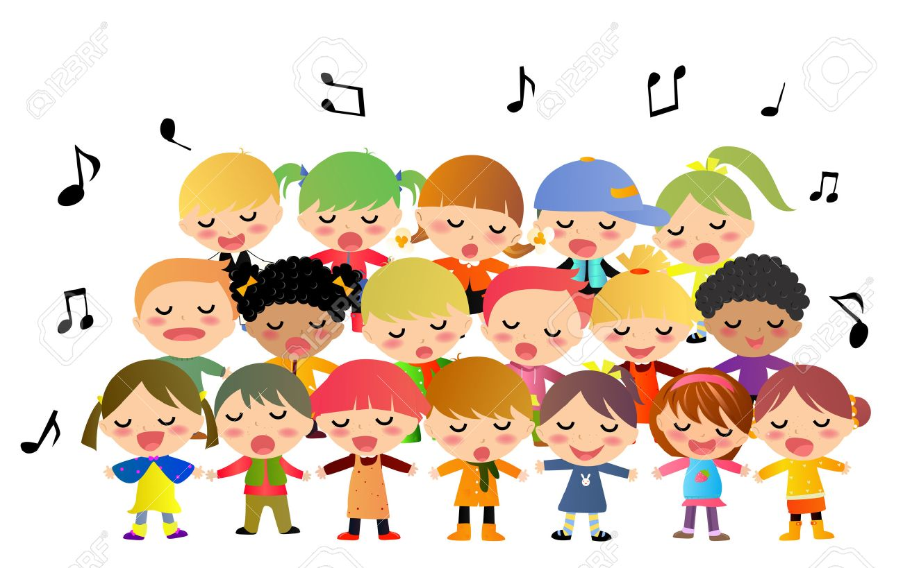 Children Worshipping God Clipart.
