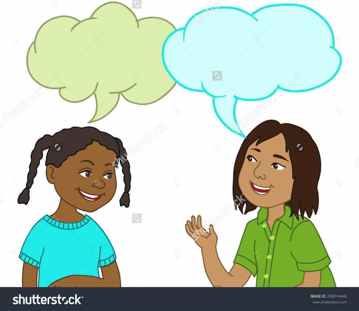 Next Two Kids Talking To Each Other Clipart Sitting Next Pictures.
