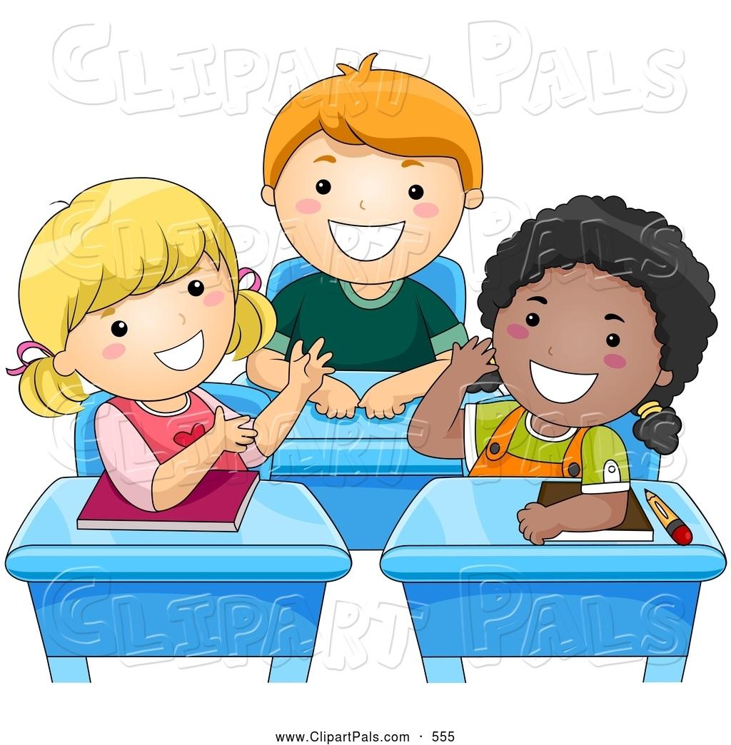 Kids Talking Clipart In Class.