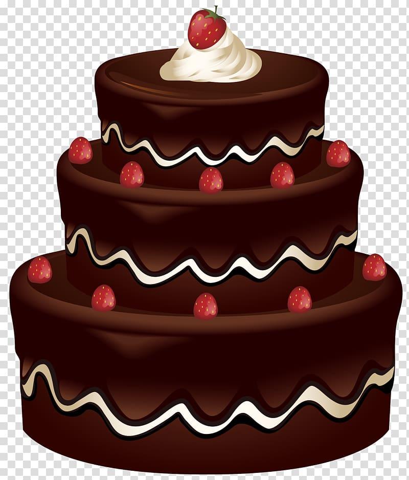 Chocolate cake illustration, Chocolate cake Birthday cake.