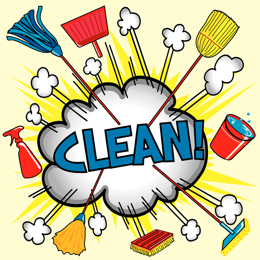 Household chores pictures clipart.