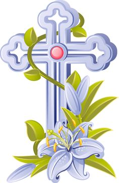 Gold Cross with Angel Wings PNG Clip Art Image.
