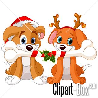 Christmas Dog Bone Clipart.