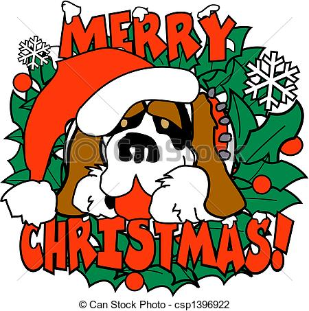 clipart of christmas and dogs #7