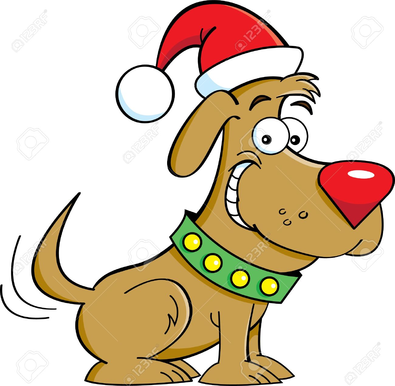 clipart of christmas and dogs #6