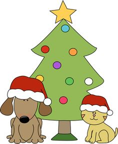 clipart of christmas and dogs #17